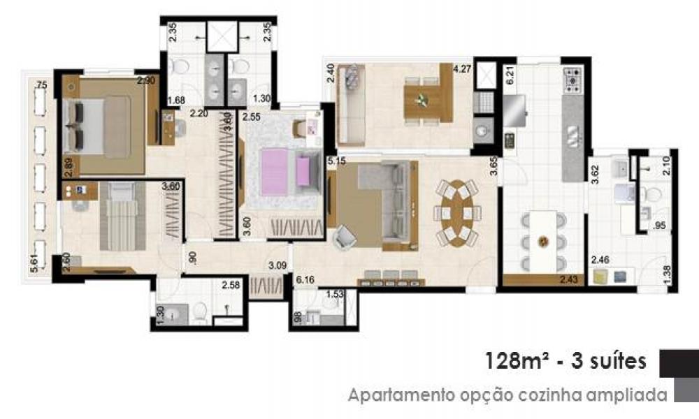 Apartamento com Cozinha Ampliada