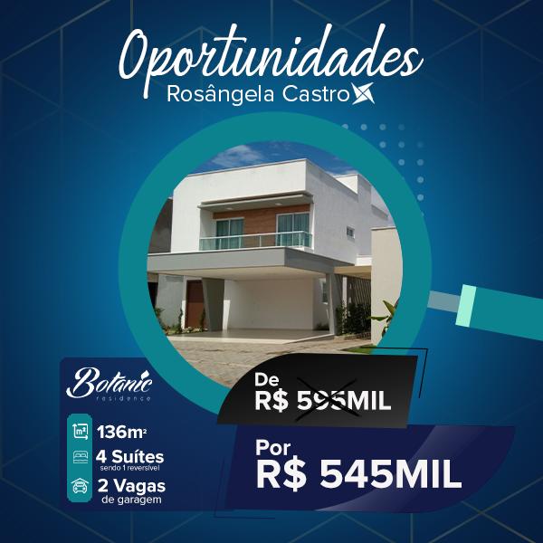 Oportunidade Rosângela Castro Imobiliária Botanic Residence