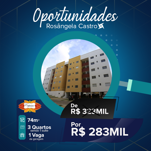 Oportunidade Rosângela Castro Imobiliária Cajuina Residence