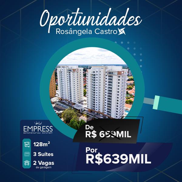 Oportunidade Rosângela Castro Imobiliária Empress Residencial Resort