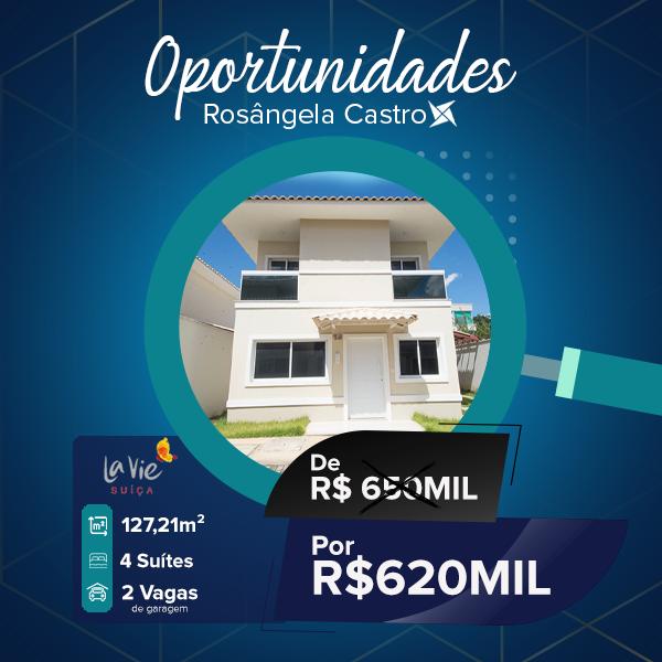 Oportunidade Rosângela Castro Imobiliária La Vie Suíça