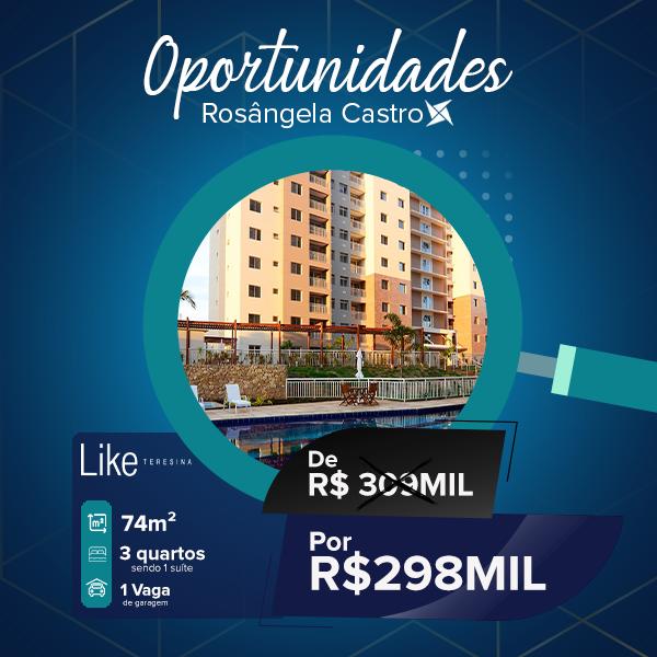 Oportunidade Rosângela Castro Imobiliária Like Teresina