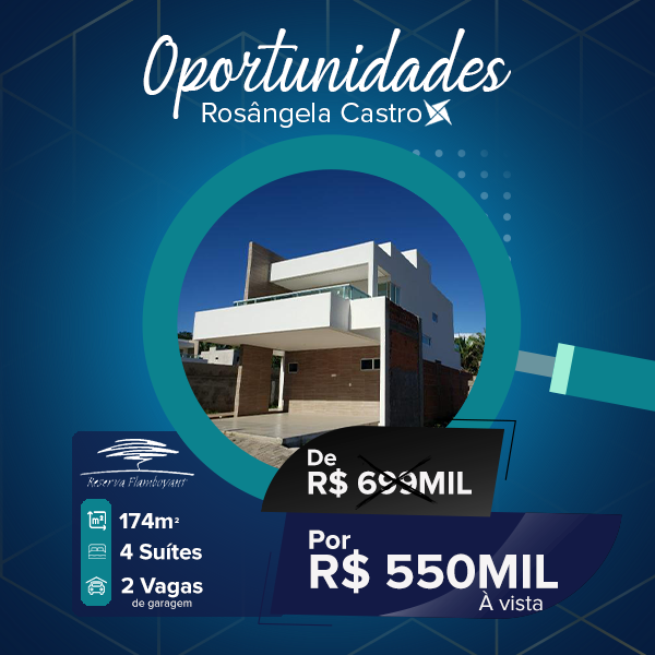 Oportunidade Rosângela Castro Imobiliária Reserva Flamboyant