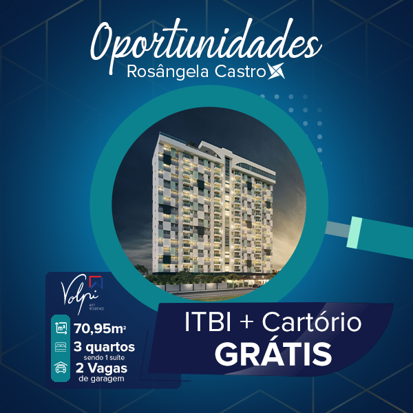 Oportunidade Rosângela Castro Imobiliária Volpi Art Residence
