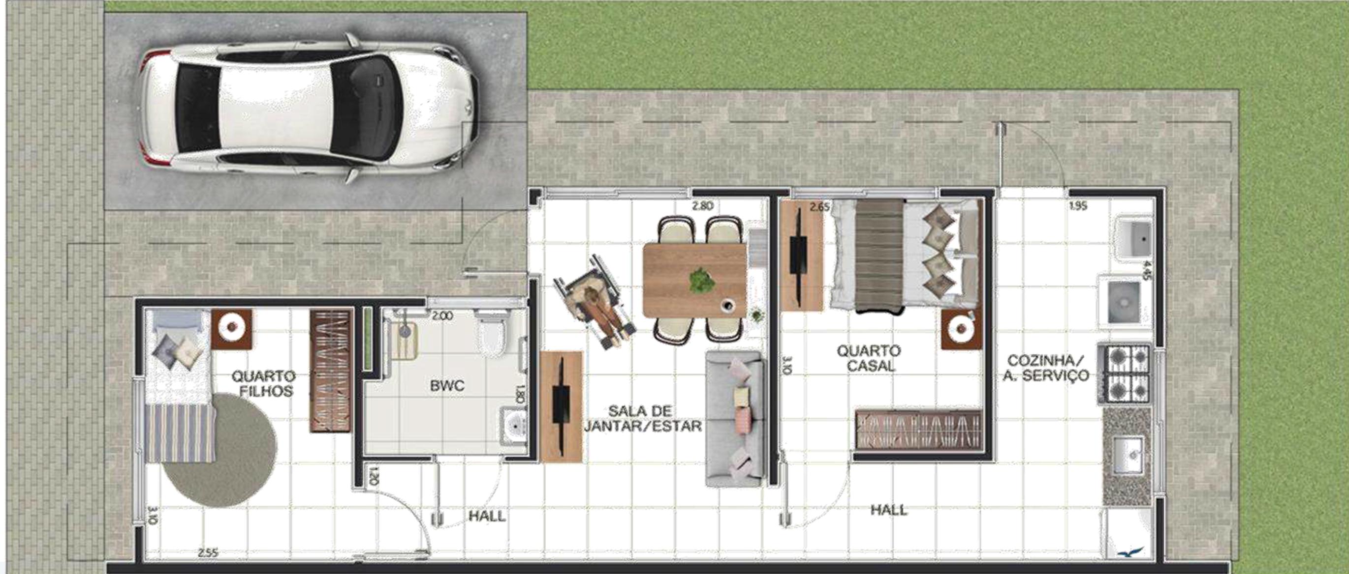 Planta Baixa - Casa térrea TIPO A