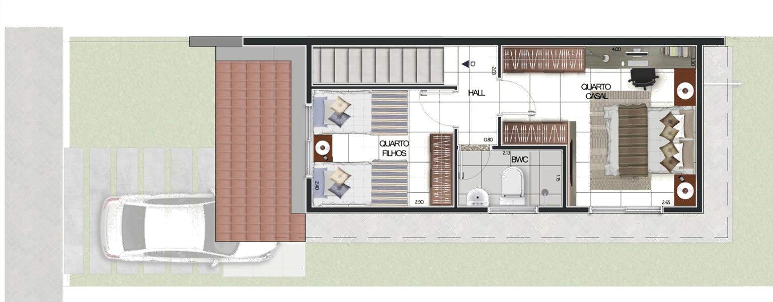 Planta Baixa - Casas Duplex TIPO C Pavimento Superior