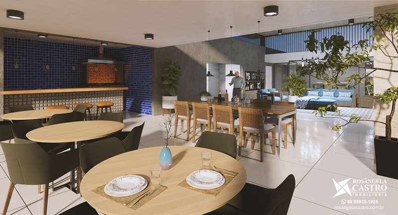 Espaço Gourmet com churrasqueira do Jardins de Monet