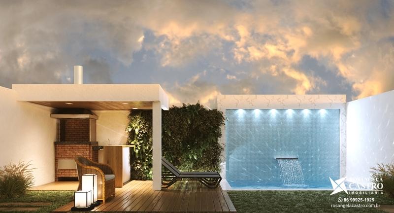 Área de lazer privativo das casas do Jardins de Monet