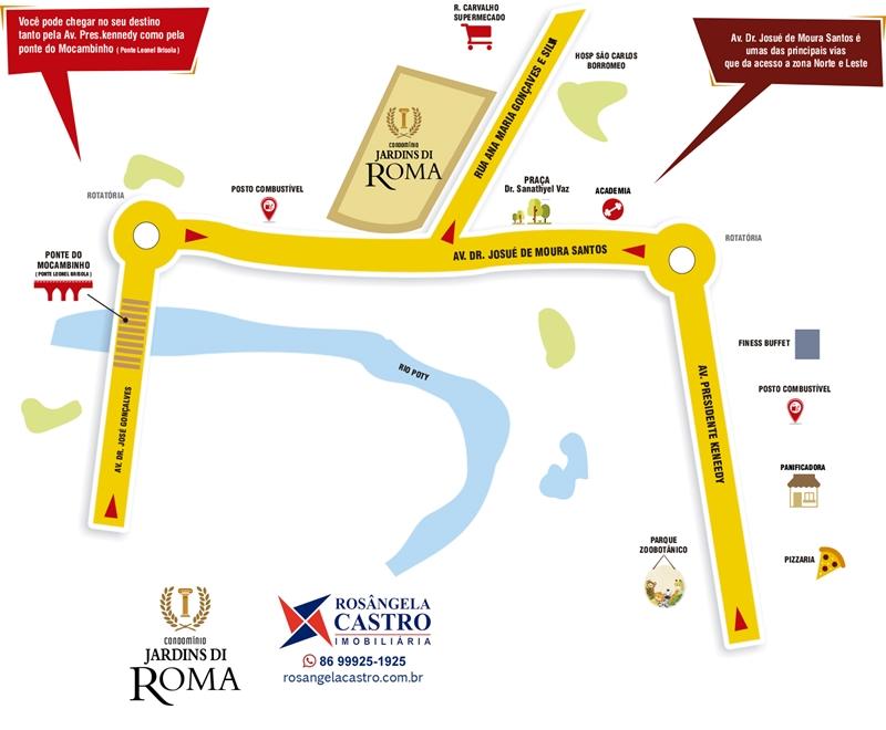 Localização do Jardins di Roma
