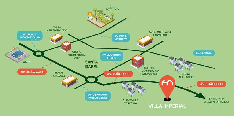 Mapa Villa Imperial